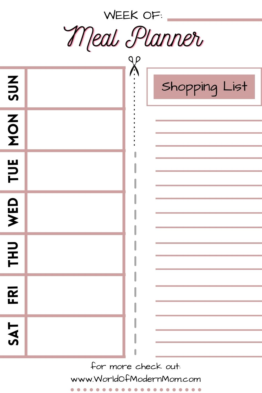 Grocery shopping list!