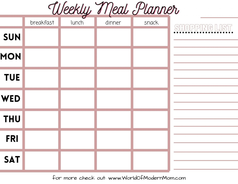 Weekly Meal Planner!