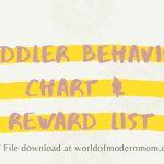 Toddler Behavior Chart & Reward List